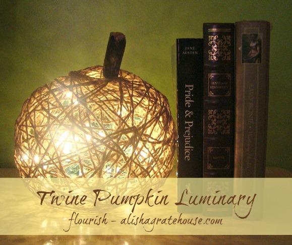 Twine Pumpkin Luminary