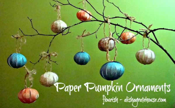 paper pumpkin ornaments