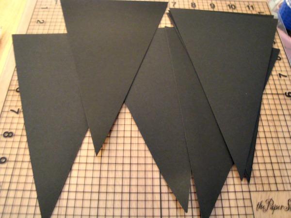 black cardstock