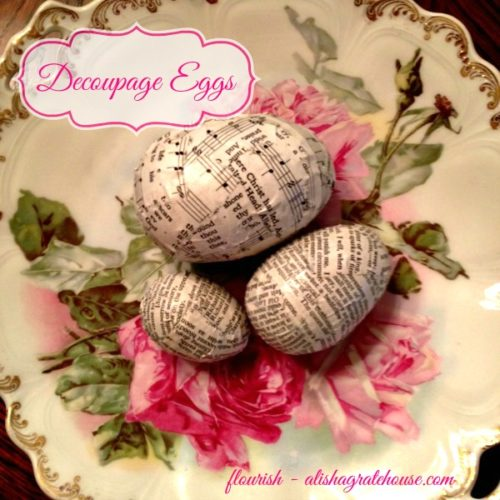 Decoupage Eggs