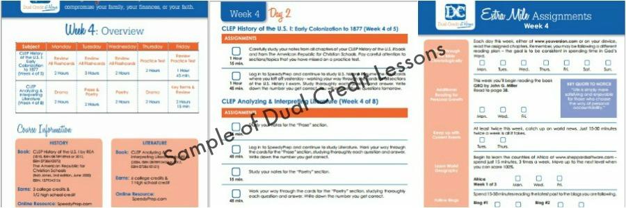 Dual Credit at Home Lesson Samples