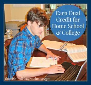 earn dual credit for home school and college