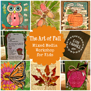 Thanksgiving Resources for Homeschool - The Art of Fall: Mixed Media Workshop for Kids