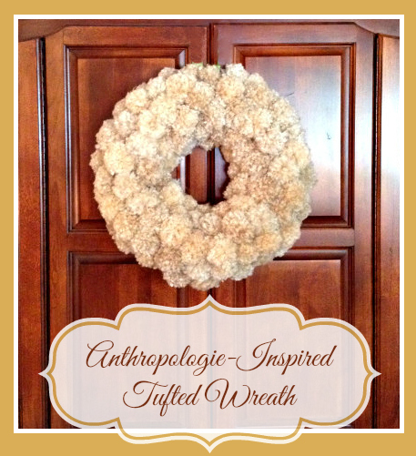anthropologie inspired tufted wreath 1
