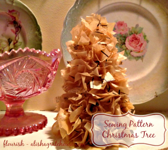 sewing pattern christmas tree