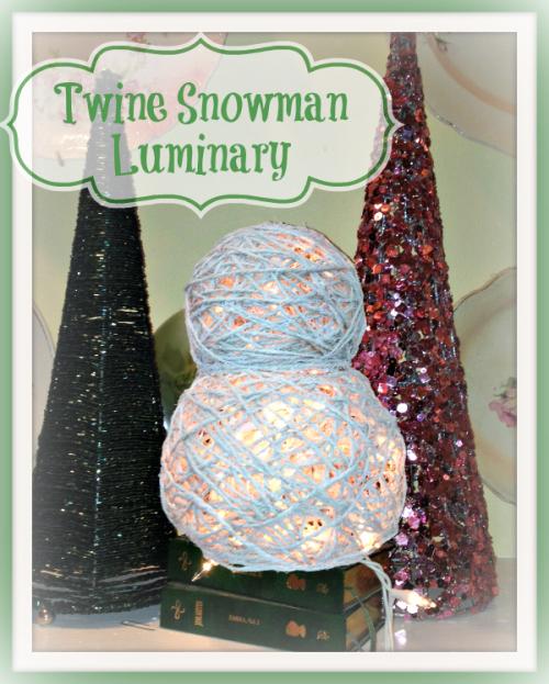 twine snowman luminary