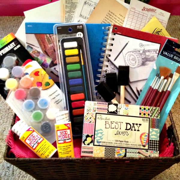 Art Raffle Basket : Mixed media art basket giveaway