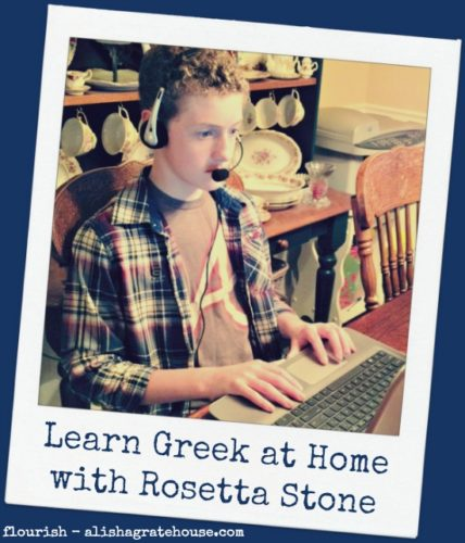 Learn Greek at Home with Rosetta Stone