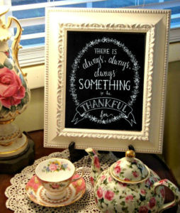 Happy Thanksgiving and a FREE Chalkboard Art Print!